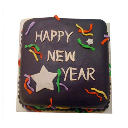 Chocolaty New Year Cake 3kg Eggless