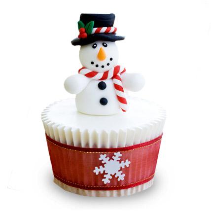 Christmas Snowman Cupcakes 12 Eggless