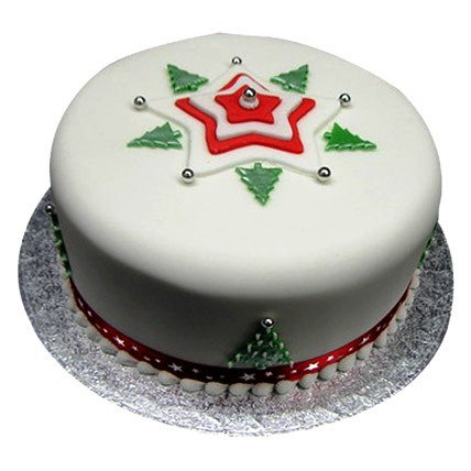 Christmas Tree Cake 4kg Eggless
