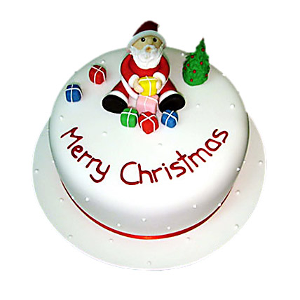 Christmas with Santa Cake 1kg Eggless