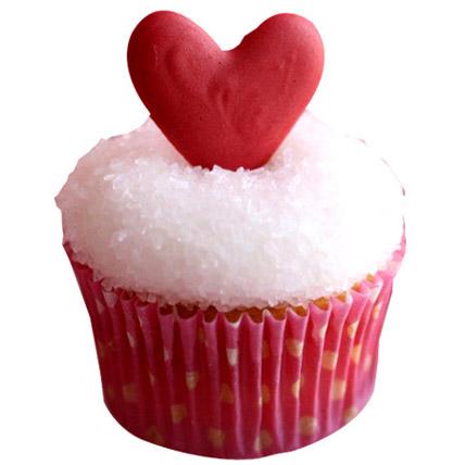 Classic Valentine Heart Cupcakes 6 Eggless