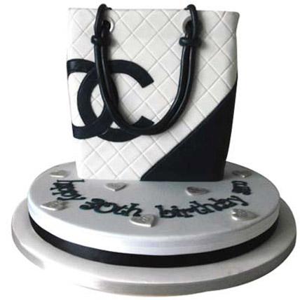 Classy Chanel Bag Cake 3kg Eggless