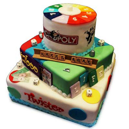 Colorful Multiple Games Cake 4kg Eggless