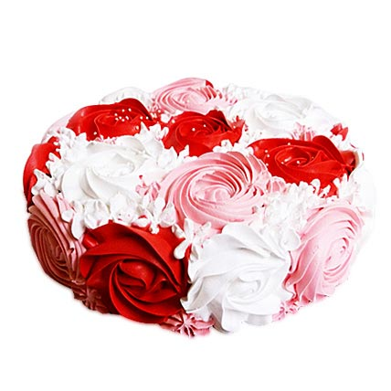 Colorful Rose Cake 2kg Eggless