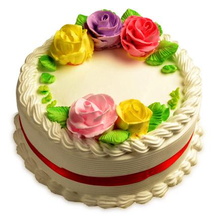 Creamy French Vanilla Cake Half kg Eggless
