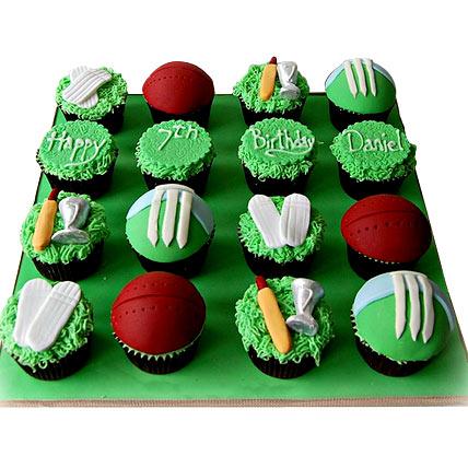 Cricket Mania Cupcake 24