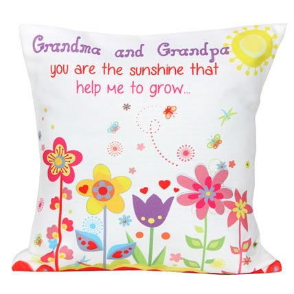 Cute Grandma and Grandpa Cushion