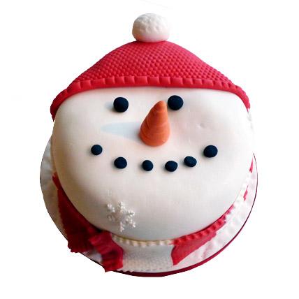 Cute Snowman Cake 4kg Eggless