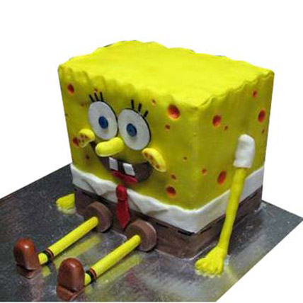 Cute Spongebob Cake 3kg Eggless