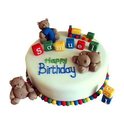 Cute Teddy Cake 2kg Vanilla