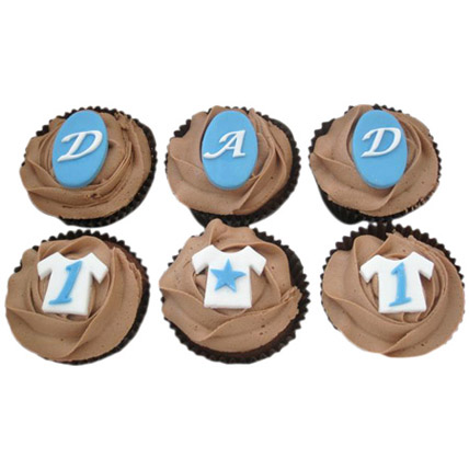 DAD Special Cupcakes 12 Eggless