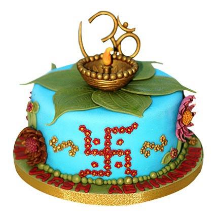 Decorative Diwali Cake 4kg Eggless