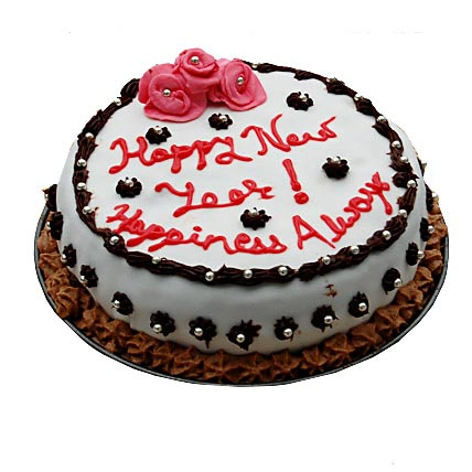 Decorative New Year Cake 3kg Eggless