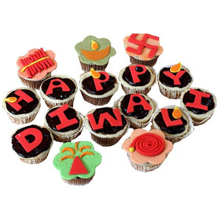 Deepavali Greetings Cupcakes 12