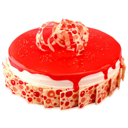 Delicious Strawberry Classic Cake Half kg Eggless