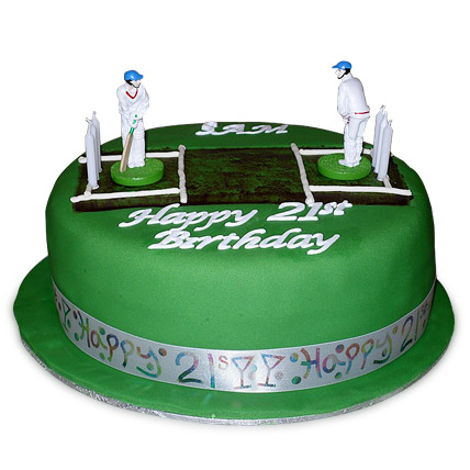 Designer Cricket Pitch Players Cake 1kg