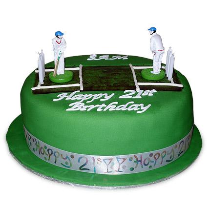Designer Cricket Pitch Players Cake 3kg