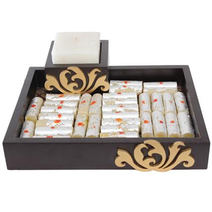 Designer Platter With Kaju Rolls