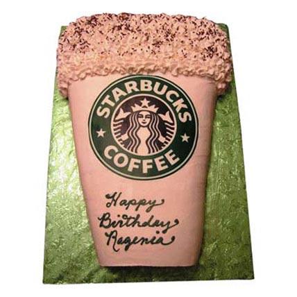 Designer Starbucks Cake 3kg Eggless