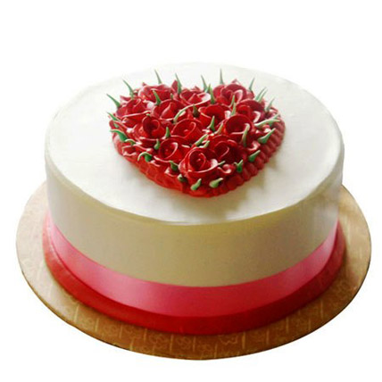 Desirable Rose Cake 1kg Eggless