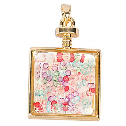 Elegant floating charm locket pendant