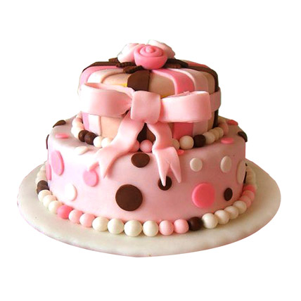 Elegant Pink Cake 4kg Eggless