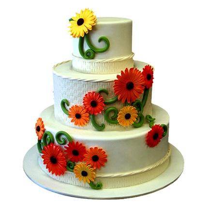 Elegant Sunflower Cake 8kg