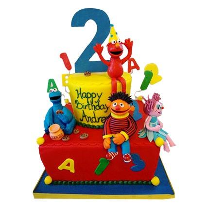Elmo Family Cake