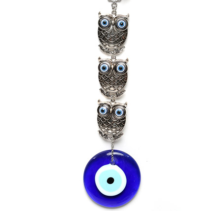 Evil Eye and Owl Hanging