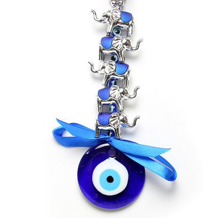 Evil Eye with Elephant Hanging