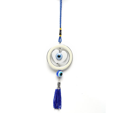 Evil Eye with Heart Hanging