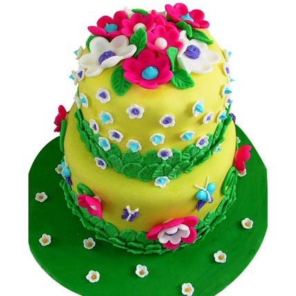 Exotic Flower Cake 5kg Eggless