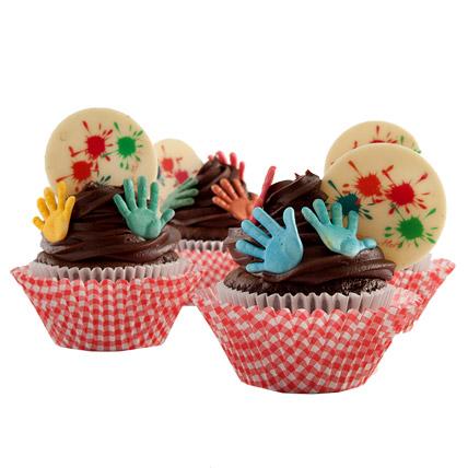 Exquisite Holi Cupcakes 12 Eggless