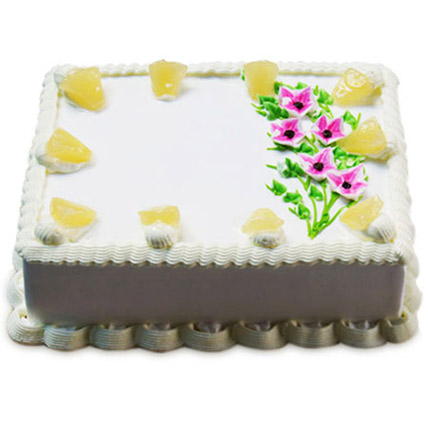 Fancy Pineapple Cake Half kg