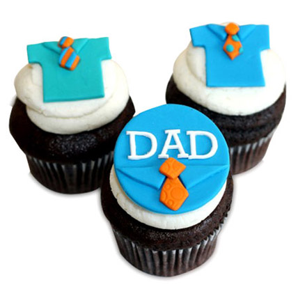 Fathers Day Special Cupcakes 12 Eggless