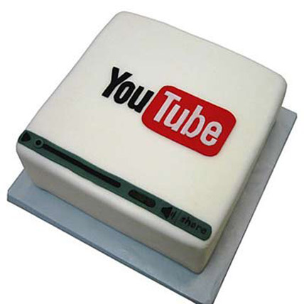 Flawless Youtube Cake 3kg Eggless