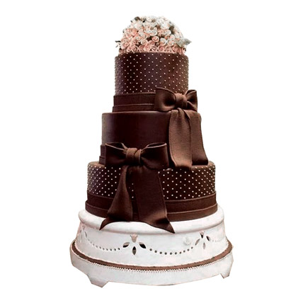 Floral Cascade Wedding Cake 10kg