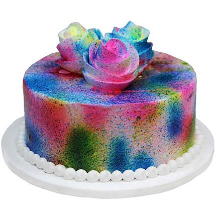 Flowery Holi Cake Half kg