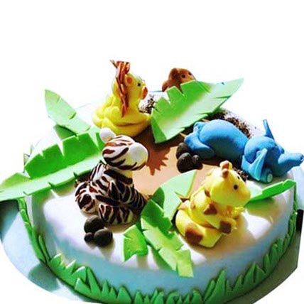 Fluffy Mix animal cake