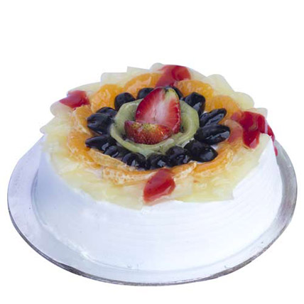 Fresh Fruit Gateau Cake 1kg Eggless