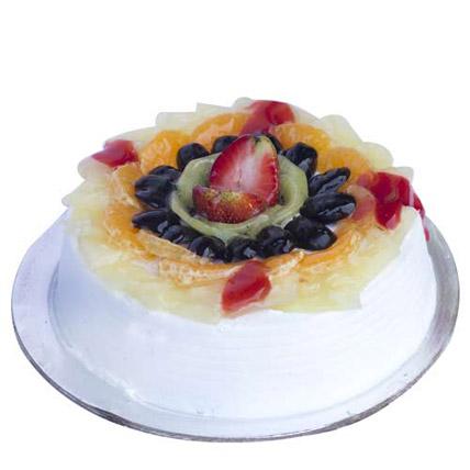 Fresh Fruit Gateau Cake Half kg Eggless