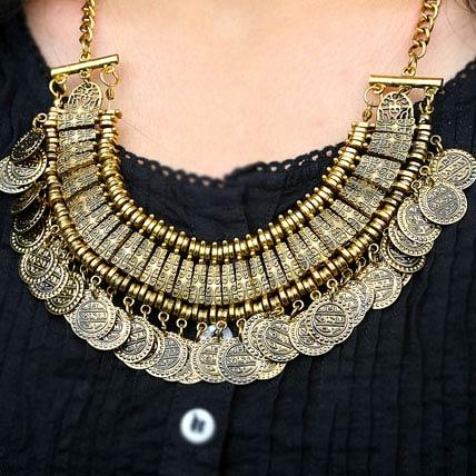 Fringe Coin Necklace