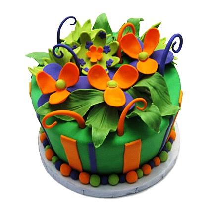 Garden Flower Cake 4kg Eggless