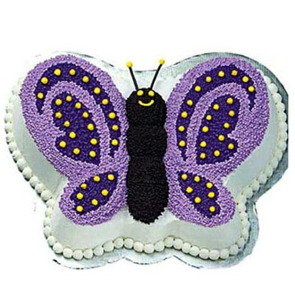 Glossy Butterfly Cake 3kg Eggless