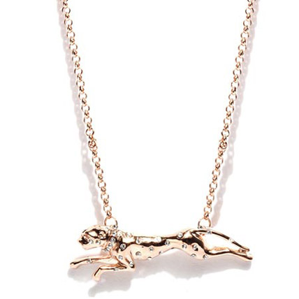 Gold Plated Leoperd Shaped Necklace