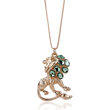 Golden peacock Gold plated Lion shaped pendent