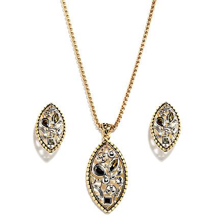 Golden Peacock Unique Jewelry Set
