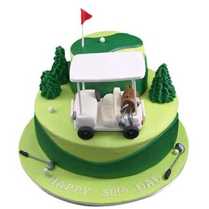Golf Car Cake 3kg Eggless