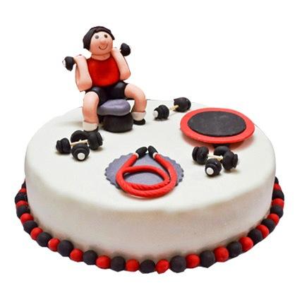 Gym Fondant Cake 2kg Eggless