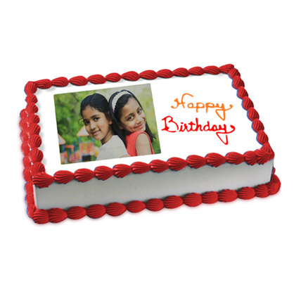 Happy Birthday Photo Cake 3kg Eggless
